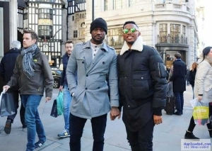 Photo: Peter Okoye Spotted With Samuel Eto In The Street Of London